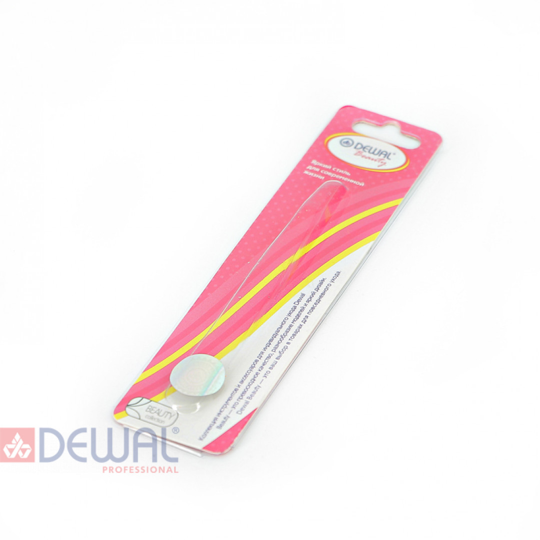 Пилка стеклянная розовая 9 см DEWAL BEAUTY GF-02