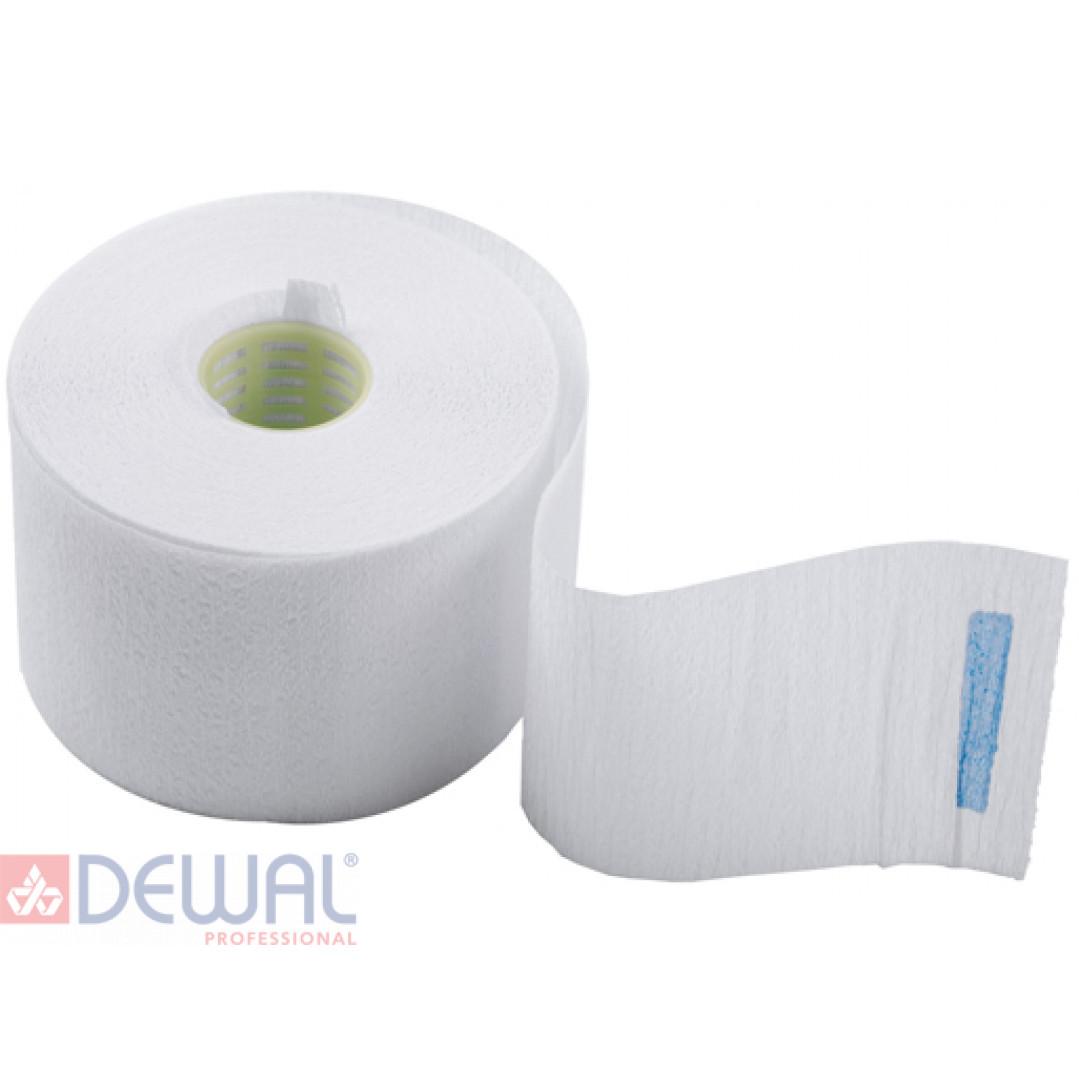 Воротнички бумажные с синей липучкой (100 шт) DEWAL 01-001