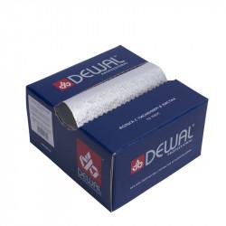 Фольга парикмахерская с тиснением в коробке 127 х 279 мм, 13 мкм (500 листов) DEWAL 02-13 silver