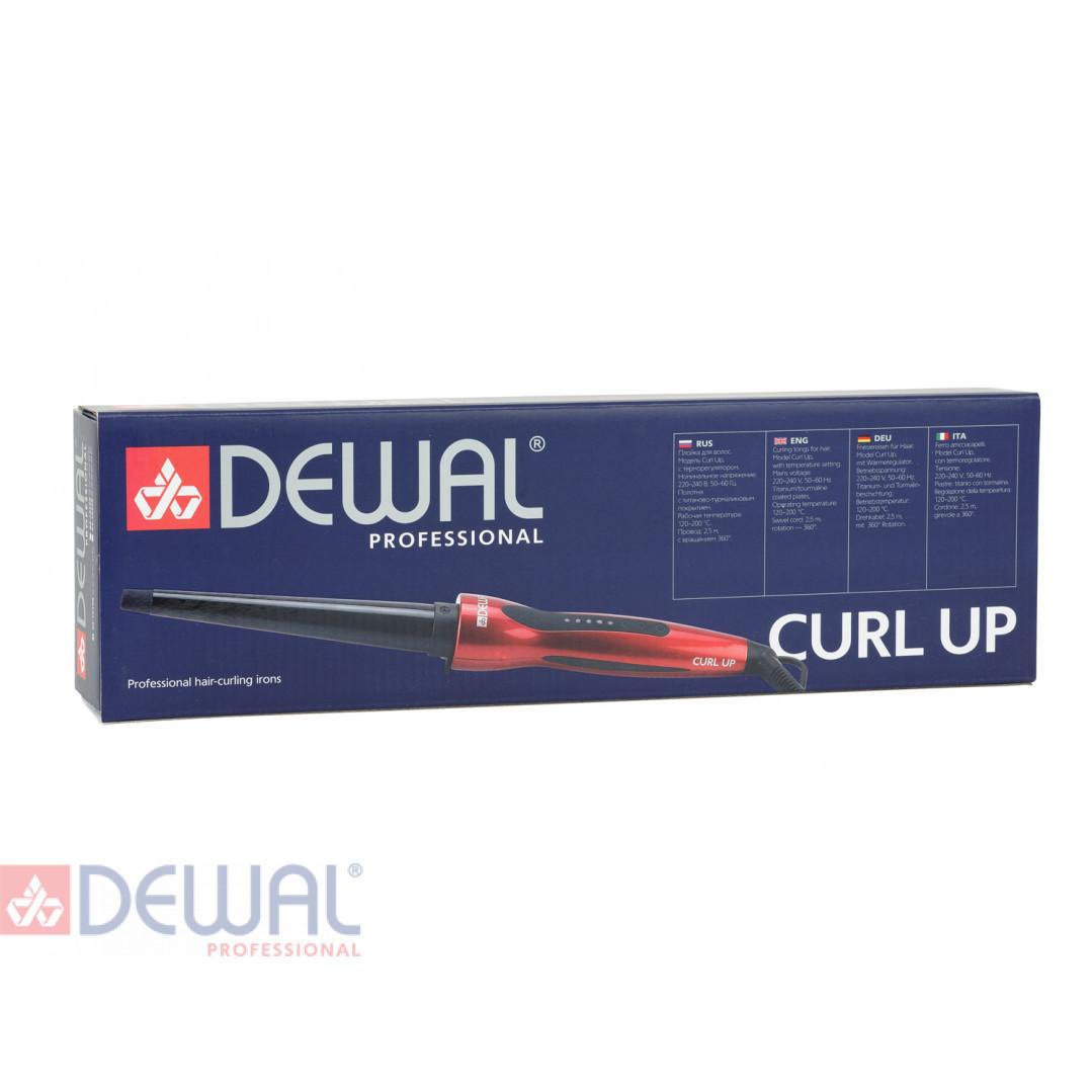 Плойка для волос Curl Up конусная с терморегулятором (10-19 мм) DEWAL 03-1019R