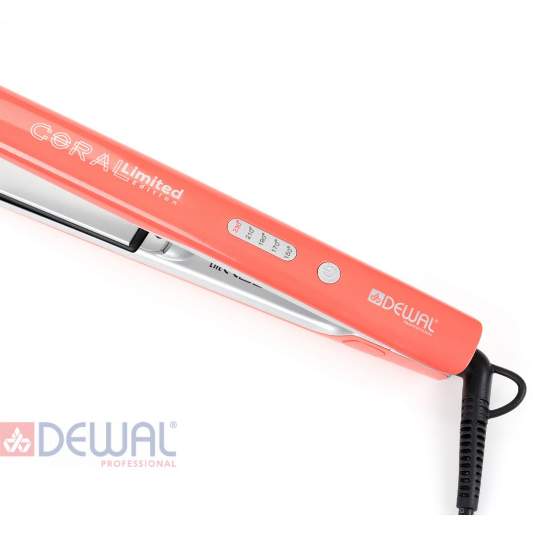 Щипцы для выпрямления волос Coral Limited Edition DEWAL 03-405 Coral