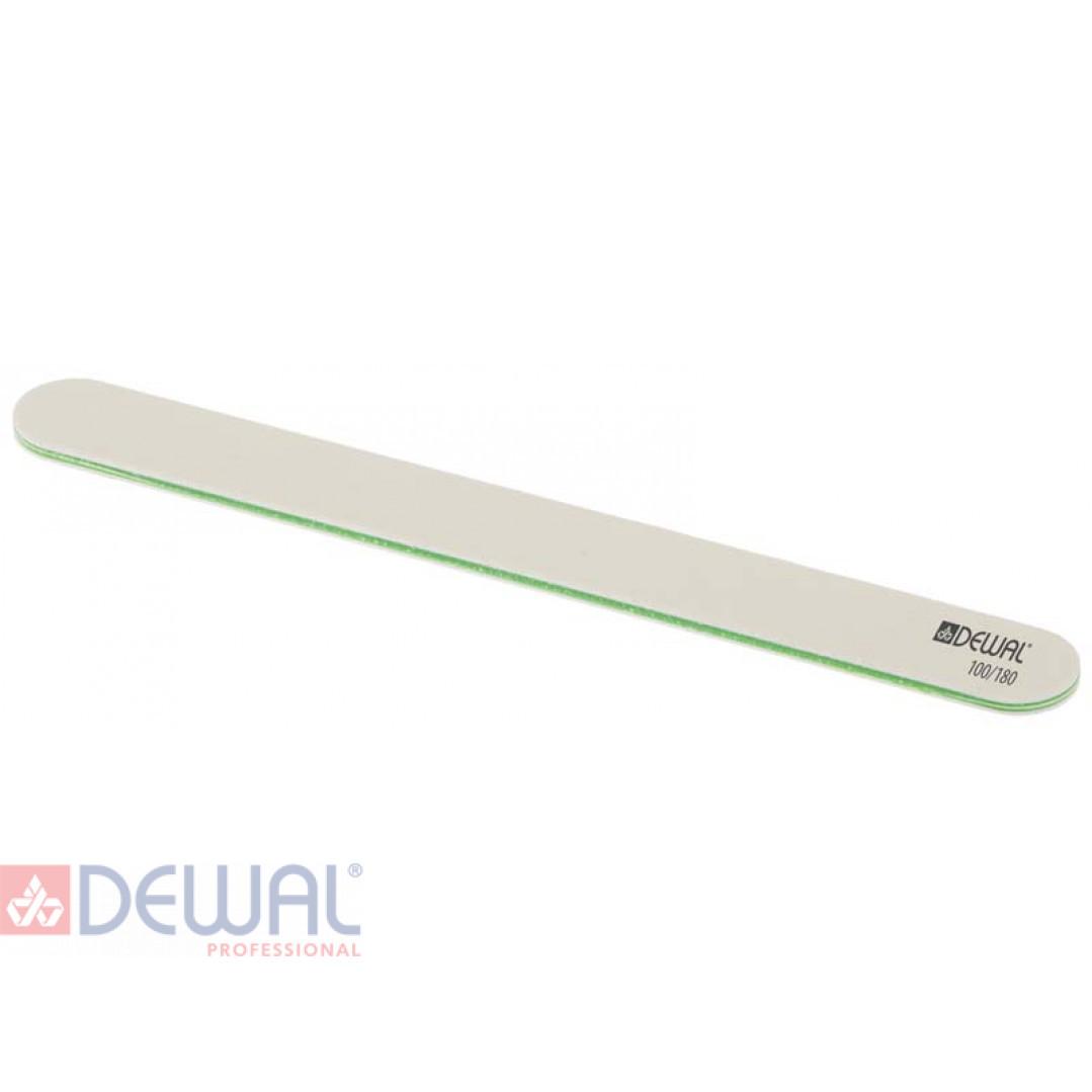 Пилка прямая белая, 100/180, 18 см DEWAL 9100421K