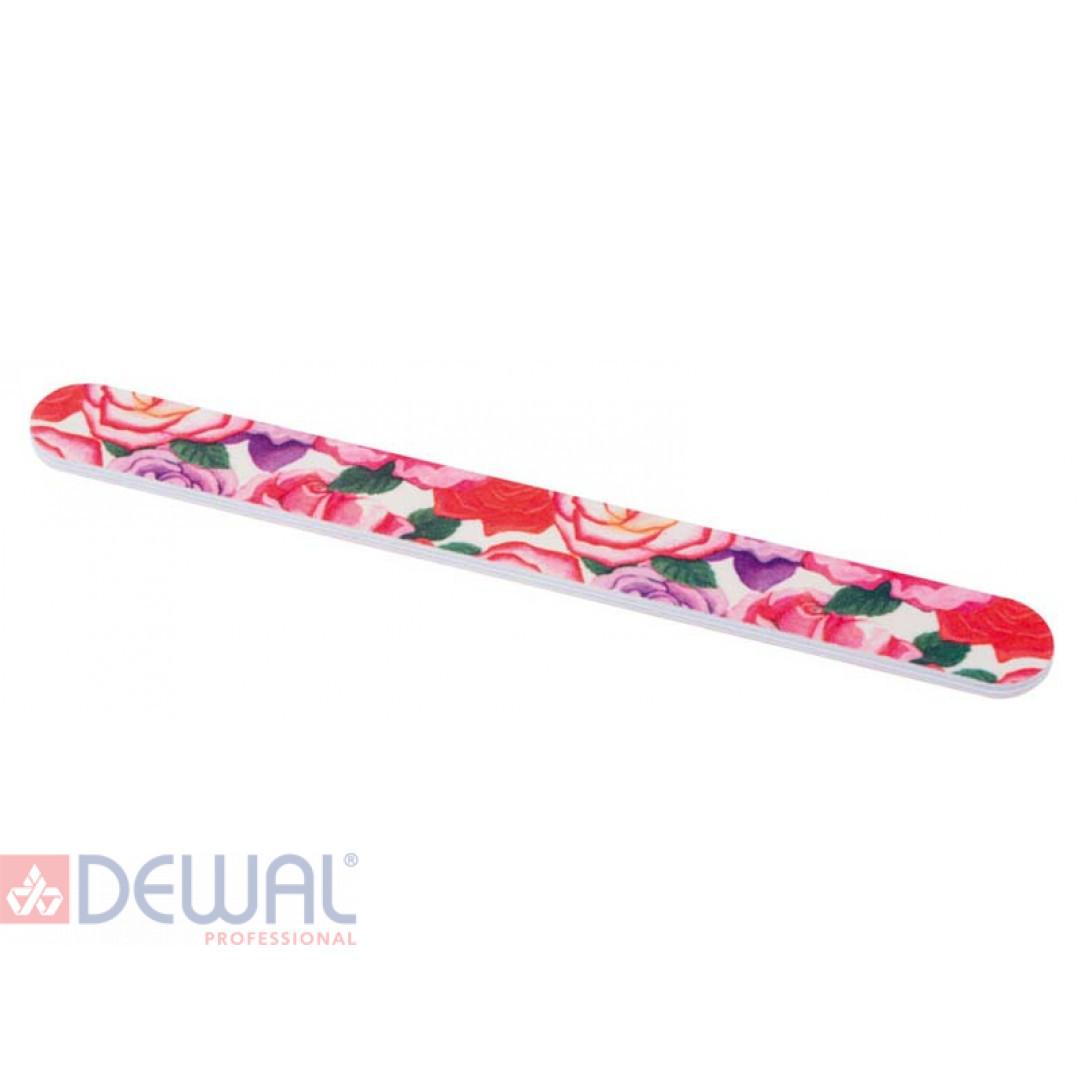 Пилка с рисунком (розы), для ногтей 18 см DEWAL BEAUTY 9102747