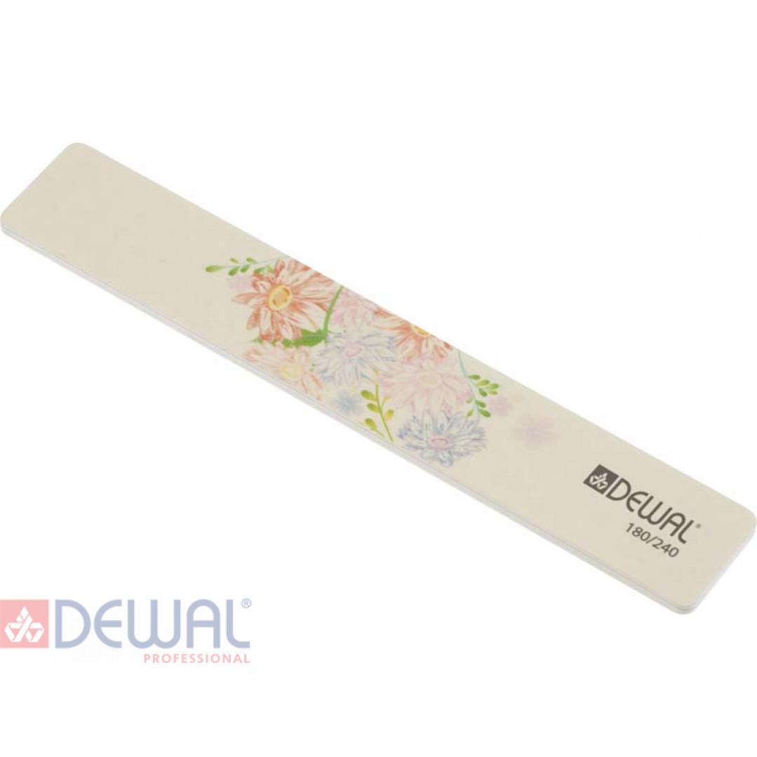 """Пилка серии """"Design Edition"""" для ногтей,широкая,180/240, 18 см DEWAL 9102873"""