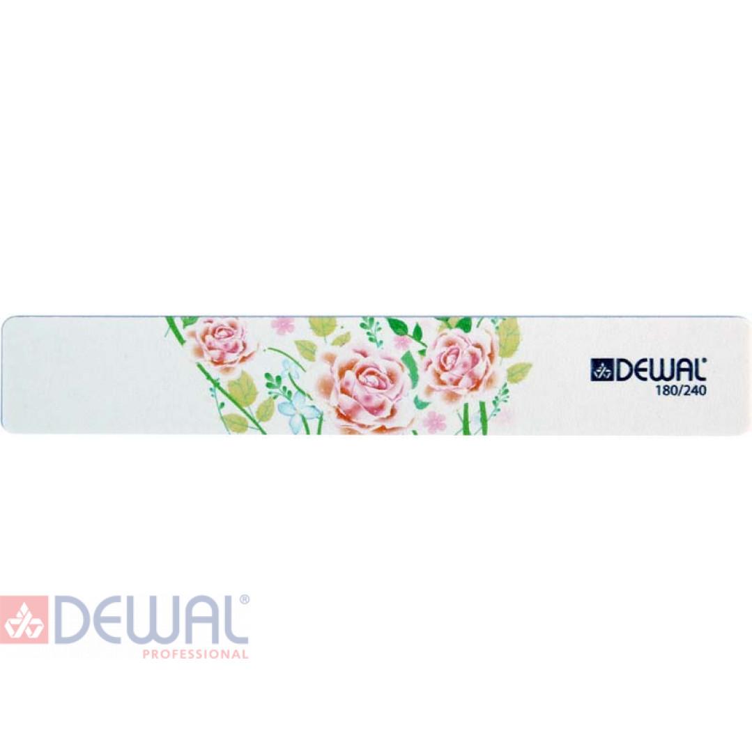 """Пилка серии """"Design Edition"""" для ногтей,широкая,180/240, 18 см DEWAL 9102875"""
