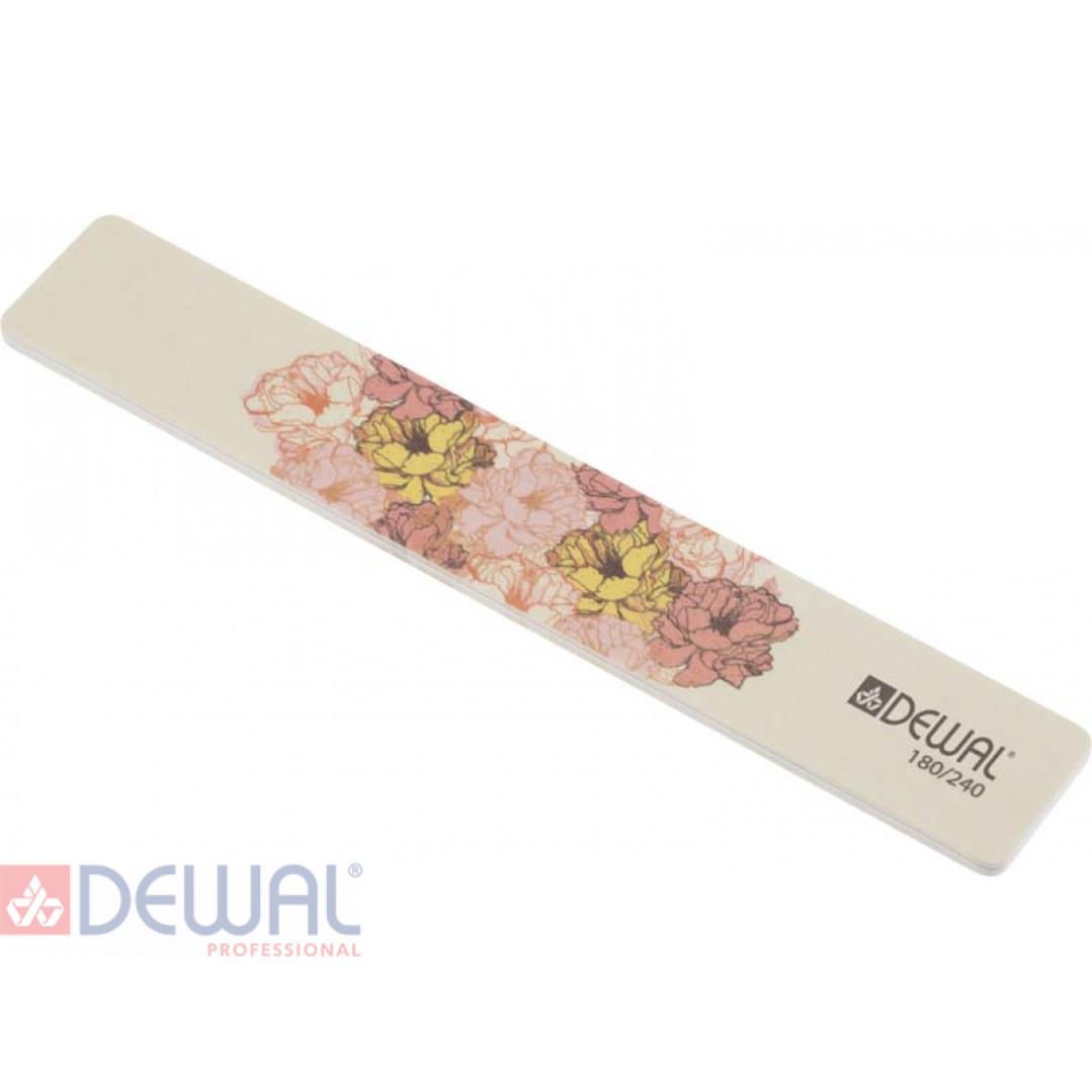 """Пилка серии """"Design Edition"""" для ногтей,широкая,180/240, 18 см DEWAL 9102876"""
