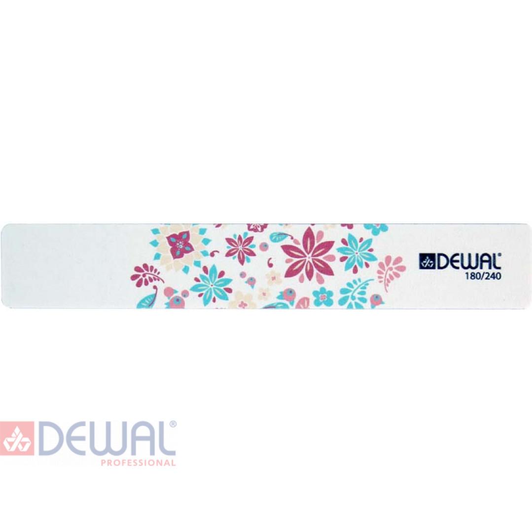 """Пилка серии """"Design Edition"""" для ногтей,широкая,180/240, 18 см DEWAL 9102877"""