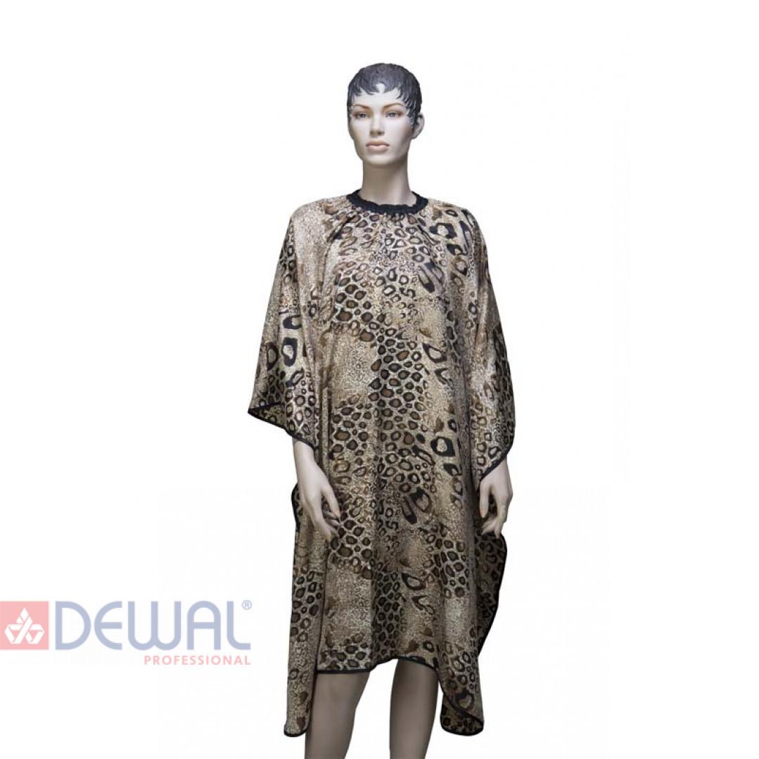 """Пеньюар для стрижки """"Леопард"""" 145 х 160 см DEWAL AP028"""