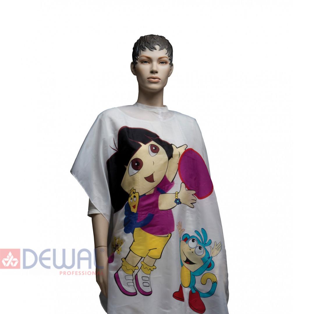 """Пеньюар для стрижки """"Даша путешественница"""" детский 95 х 120 см DEWAL AP12"""