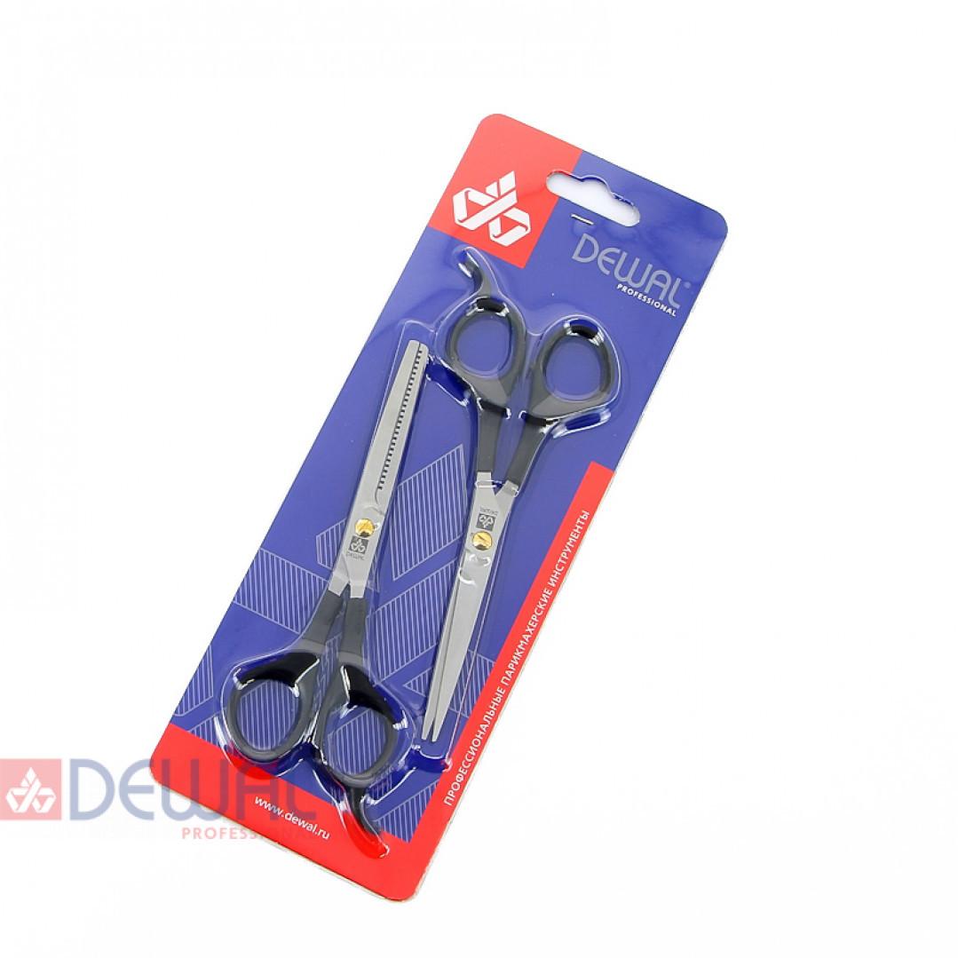 Набор парикмахерских ножниц EASY STEP (прямые + филировочные) DEWAL B1-9