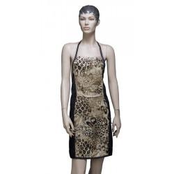 "Фартук мастера для стрижки ""Леопард"" 70 x 82 см DEWAL BE07"