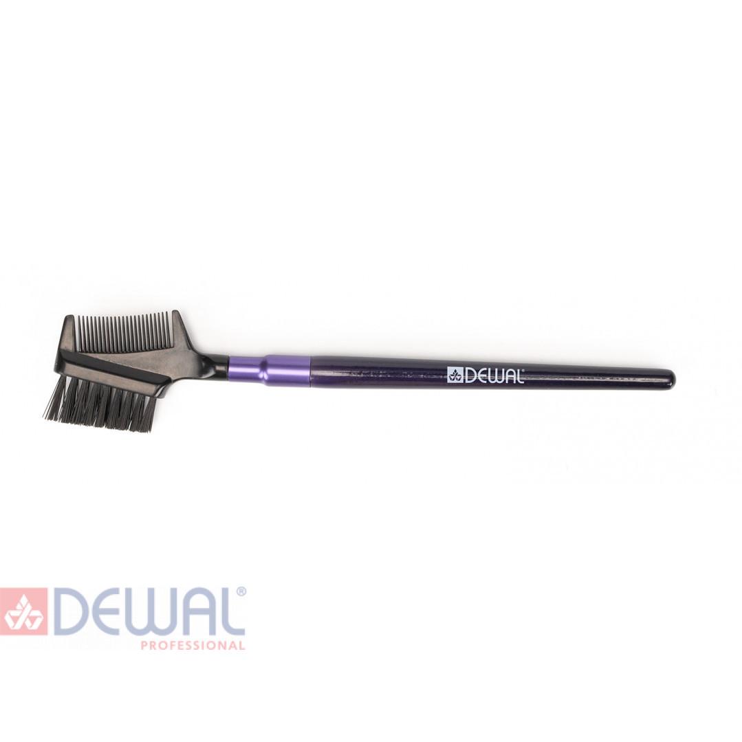 Кисть щетка для бровей и ресниц 15 см DEWAL BR-542