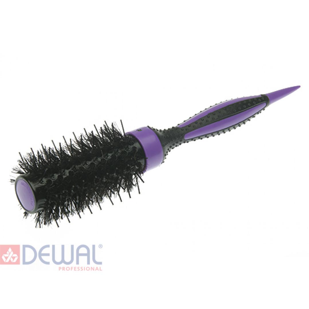 Термобрашинг фиолетовый ELITE натуральная щетина 32 мм DEWAL BR32-ELITEviolet*