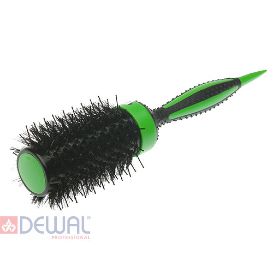 Термобрашинг зелёный ELITE натуральная щетина d 49/70 мм DEWAL BR49-ELITEgreen*