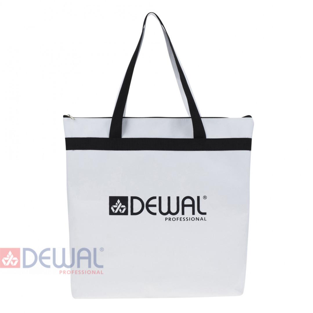 Сумка для парикмахерских инструментов DEWAL,полимерный материал,черно белая 43х44 см