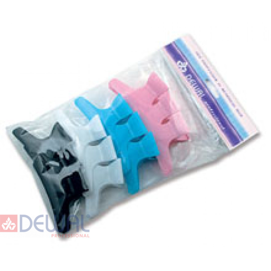 """Зажим """"бабочка"""" цветной, 8 см (12 шт.) DEWAL CL2202"""