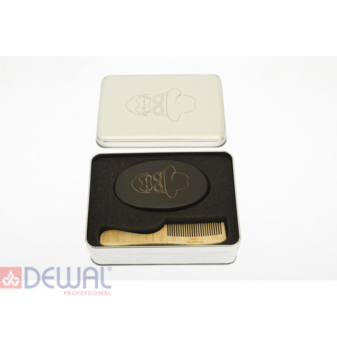 Набор расческа и щётка для бороды и усов миниBARBER STYLE DEWAL CO-007/1
