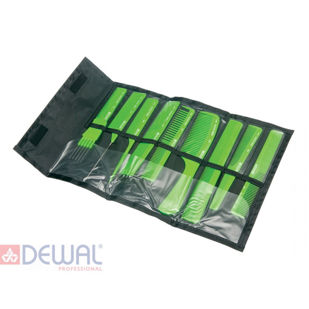 Набор расчесок DEWAL CO-9-Light Green