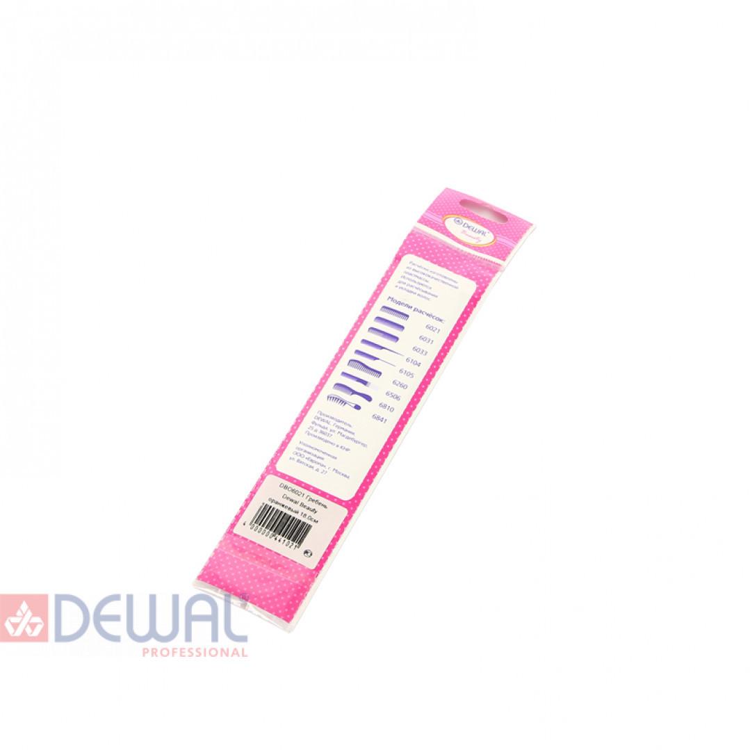 Расческа для начеса с металлическими зубцами фиолетовая DEWAL BEAUTY DBFI6506