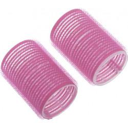 Бигуди-липучки розовые d 24 мм x 63 мм (10 шт) DEWAL BEAUTY DBL24