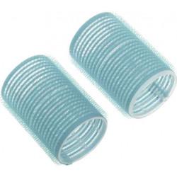 Бигуди-липучки голубые d 28 мм x 63 мм (10 шт) DEWAL BEAUTY DBL28