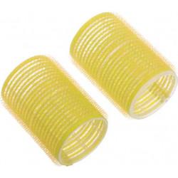 Бигуди-липучки желтые d 32 мм x 63 мм (10 шт) DEWAL BEAUTY DBL32