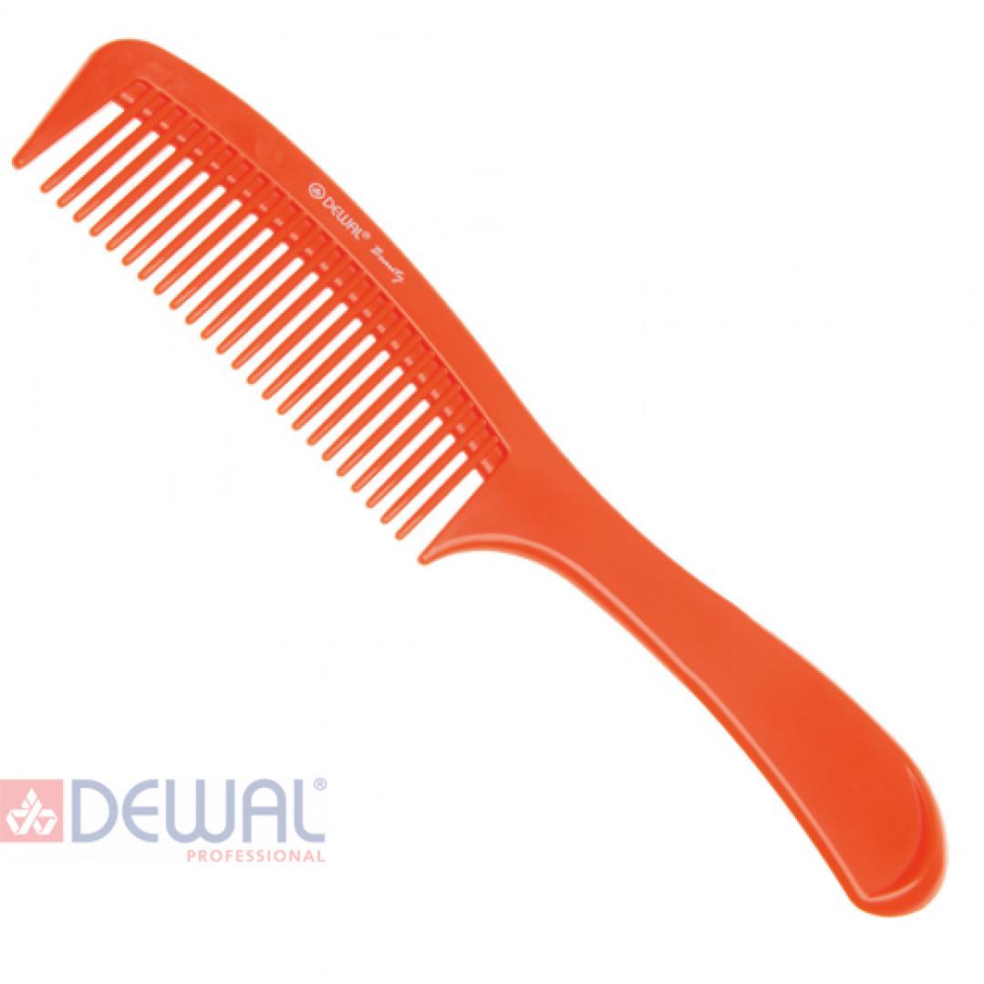 Расческа с ручкой оранжевая DEWAL BEAUTY DBO6810
