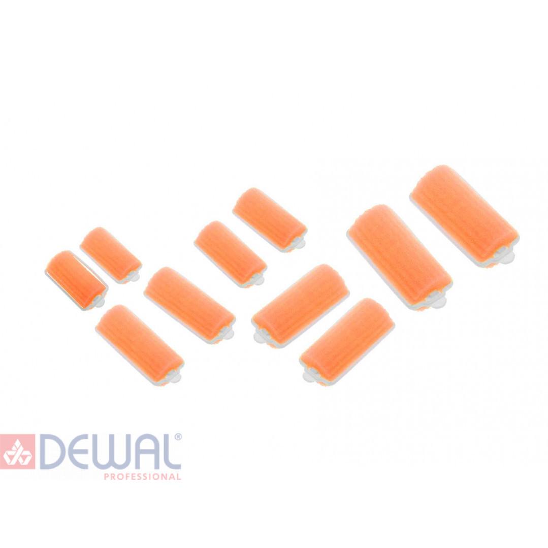 Бигуди поролоновые оранжевые d 22 мм x 70 мм (10 шт) DEWAL BEAUTY DBP22