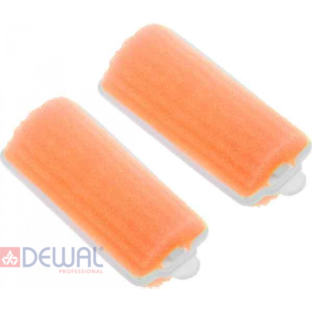 Бигуди поролоновые оранжевые d 25 мм x 70 мм (10 шт) DEWAL BEAUTY DBP25