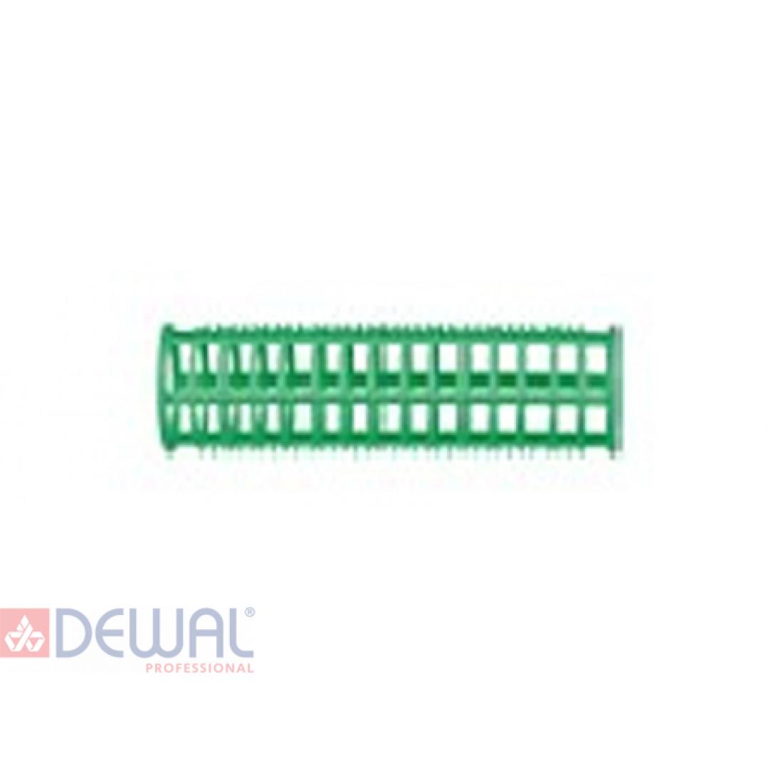 Бигуди пластиковые зеленые d 23 мм x 76 мм (10 шт) DEWAL BEAUTY DBPP23