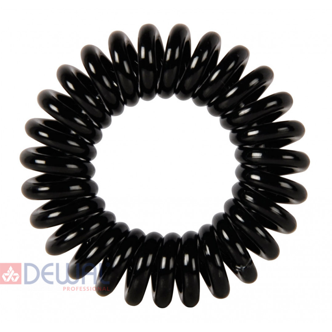 """Резинки для волос """"Пружинка"""" цвет черный (3 шт) DEWAL BEAUTY DBR01"""