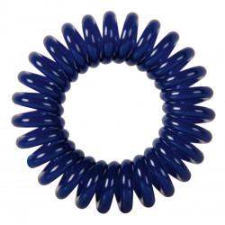 """Резинки для волос """"Пружинка"""" цвет темно-синий (3 шт) DEWAL BEAUTY DBR021"""