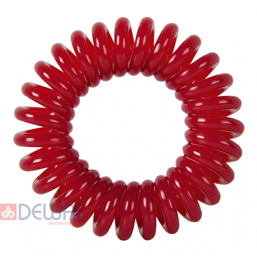 """Резинки для волос """"Пружинка"""" цвет темно-красный (3 шт) DEWAL BEAUTY DBR026"""