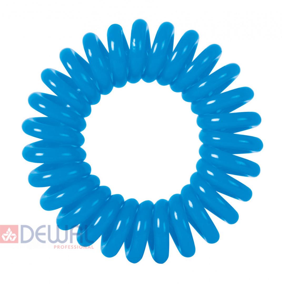 "Резинки для волос ""Пружинка"" цвет синий (3 шт) DEWAL BEAUTY DBR03"