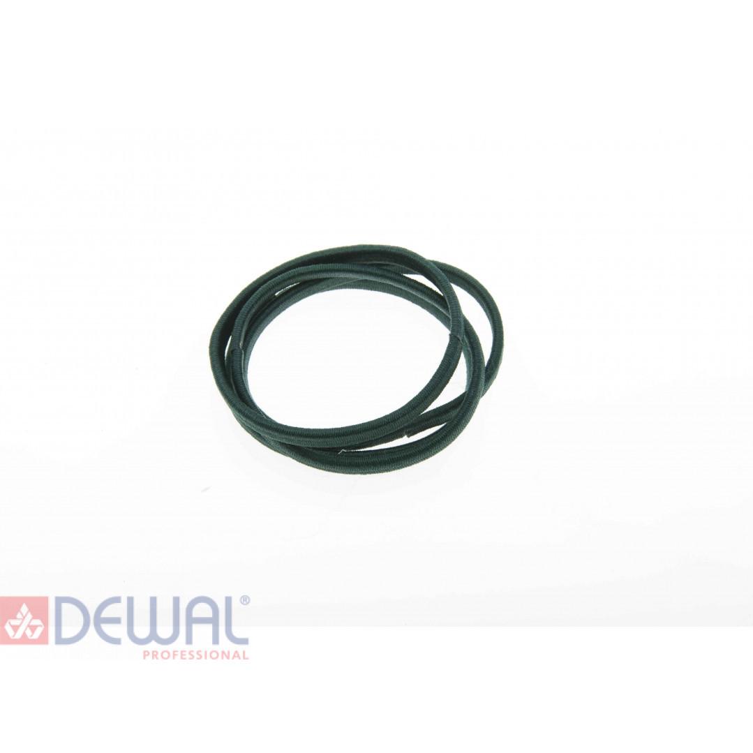 Резинки для волос графит плоские, midi (8 шт) DEWAL BEAUTY DBR10