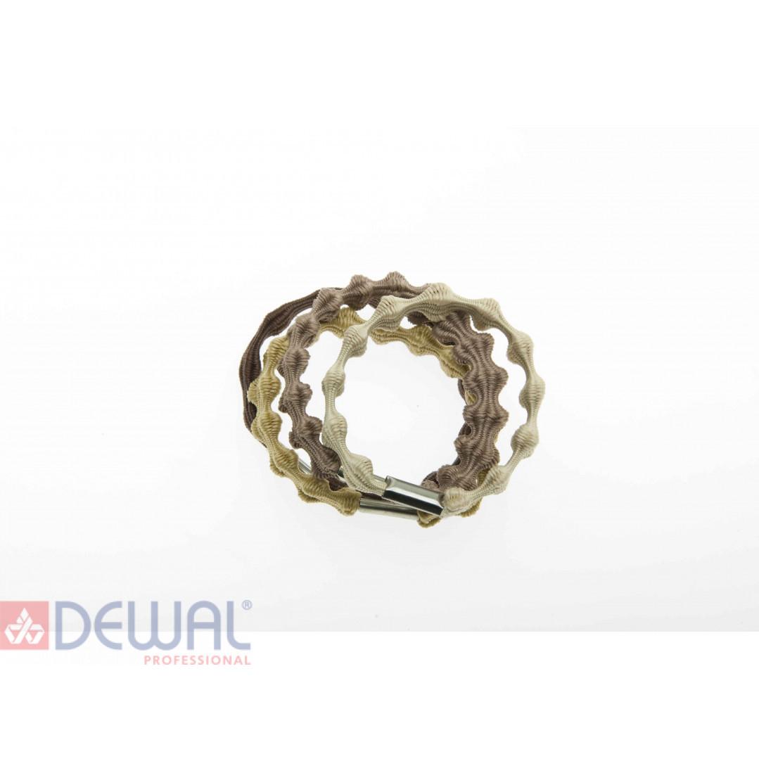 Резинки для волос цветные рифленые, midi (8 шт) DEWAL BEAUTY DBR12