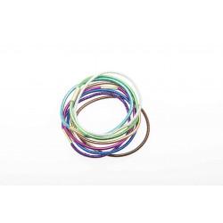 Резинки для волос цветные блестящие, midi (8 шт) DEWAL BEAUTY DBR15