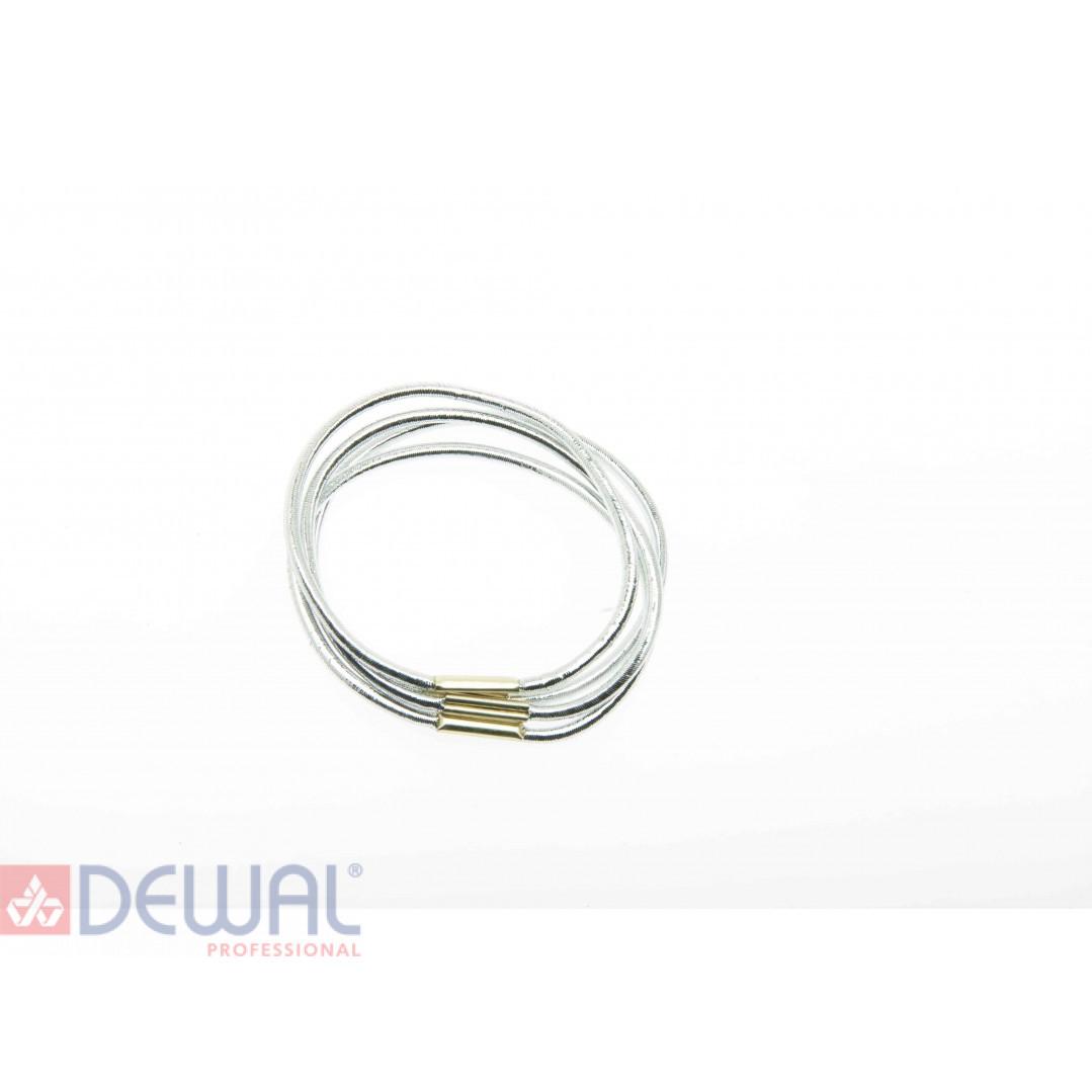 Резинки для волос темно серебристые, midi (8 шт) DEWAL BEAUTY DBR16