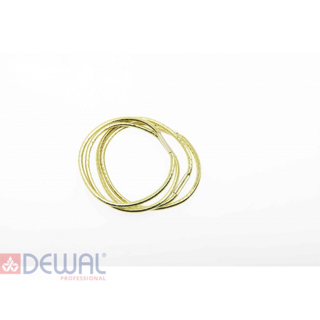 Резинки для волос темно золотистые, midi (8 шт) DEWAL BEAUTY DBR17