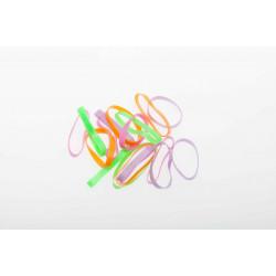 Резинки для волос силикон цветные, midi (25 шт) DEWAL BEAUTY DBR19