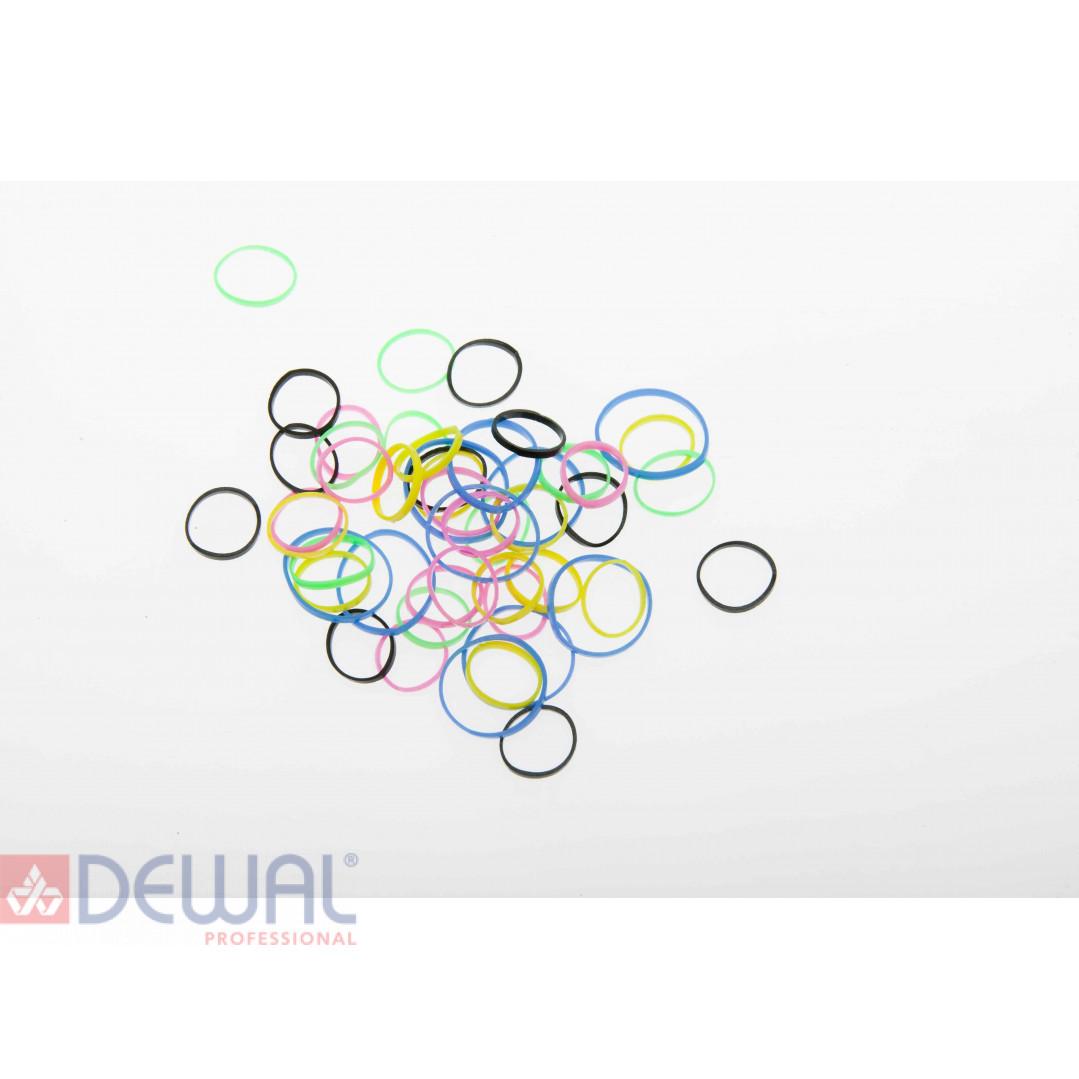 Резинки для волос силикон цветные, mix mini (50 шт) DEWAL BEAUTY DBR20