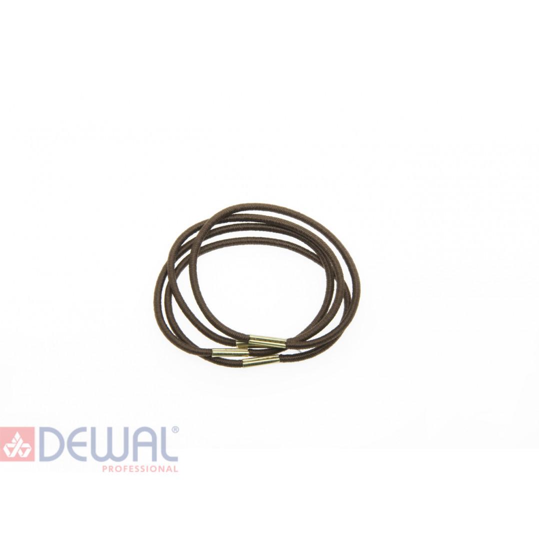 Резинки для волос коричневые, midi (8шт) DEWAL BEAUTY DBR3