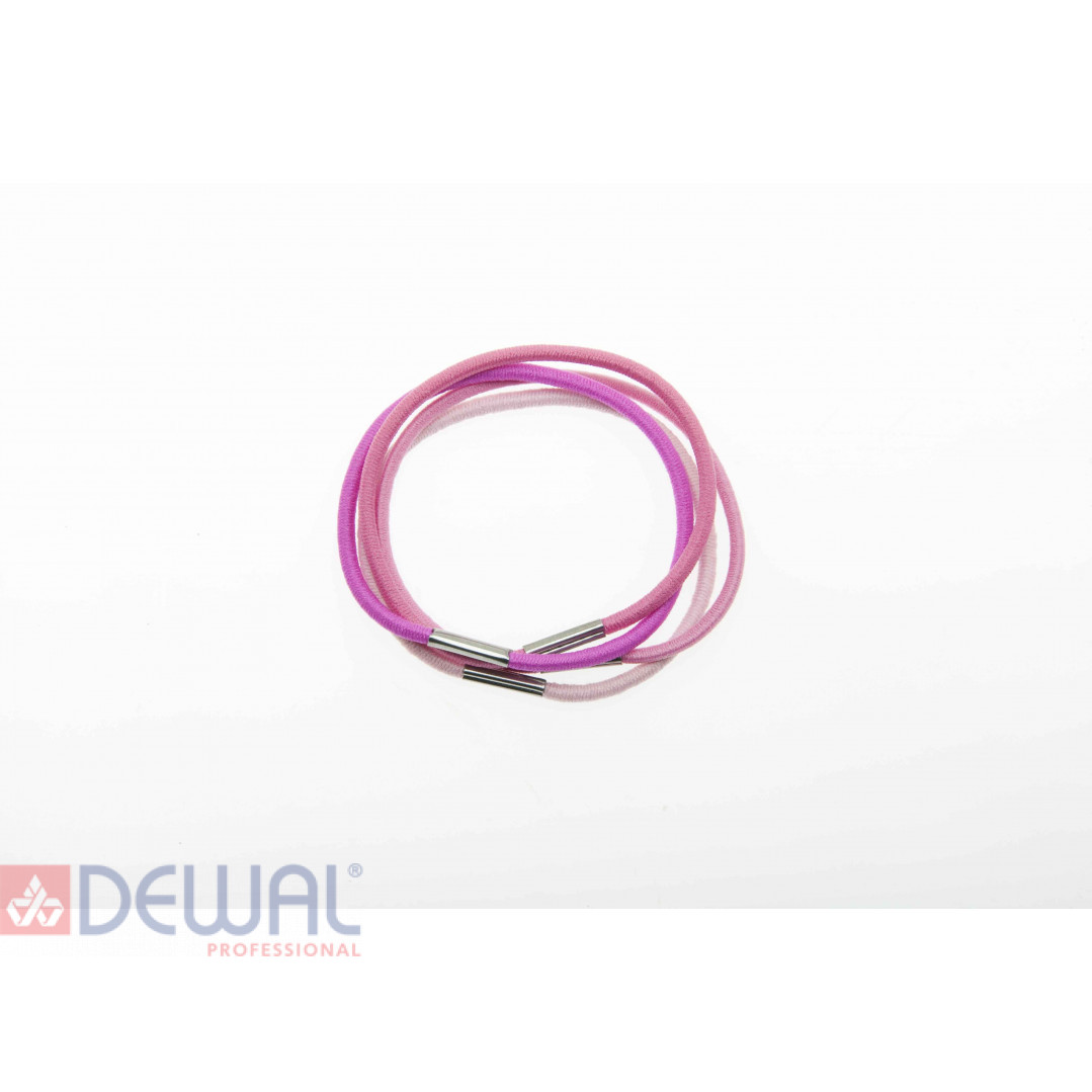 Резинки для волос радуга красная, midi (8 шт) DEWAL BEAUTY DBR5