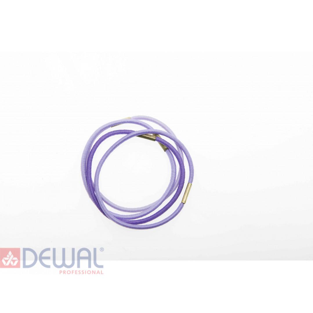 Резинки для волос радуга синяя, midi (8 шт) DEWAL BEAUTY DBR6