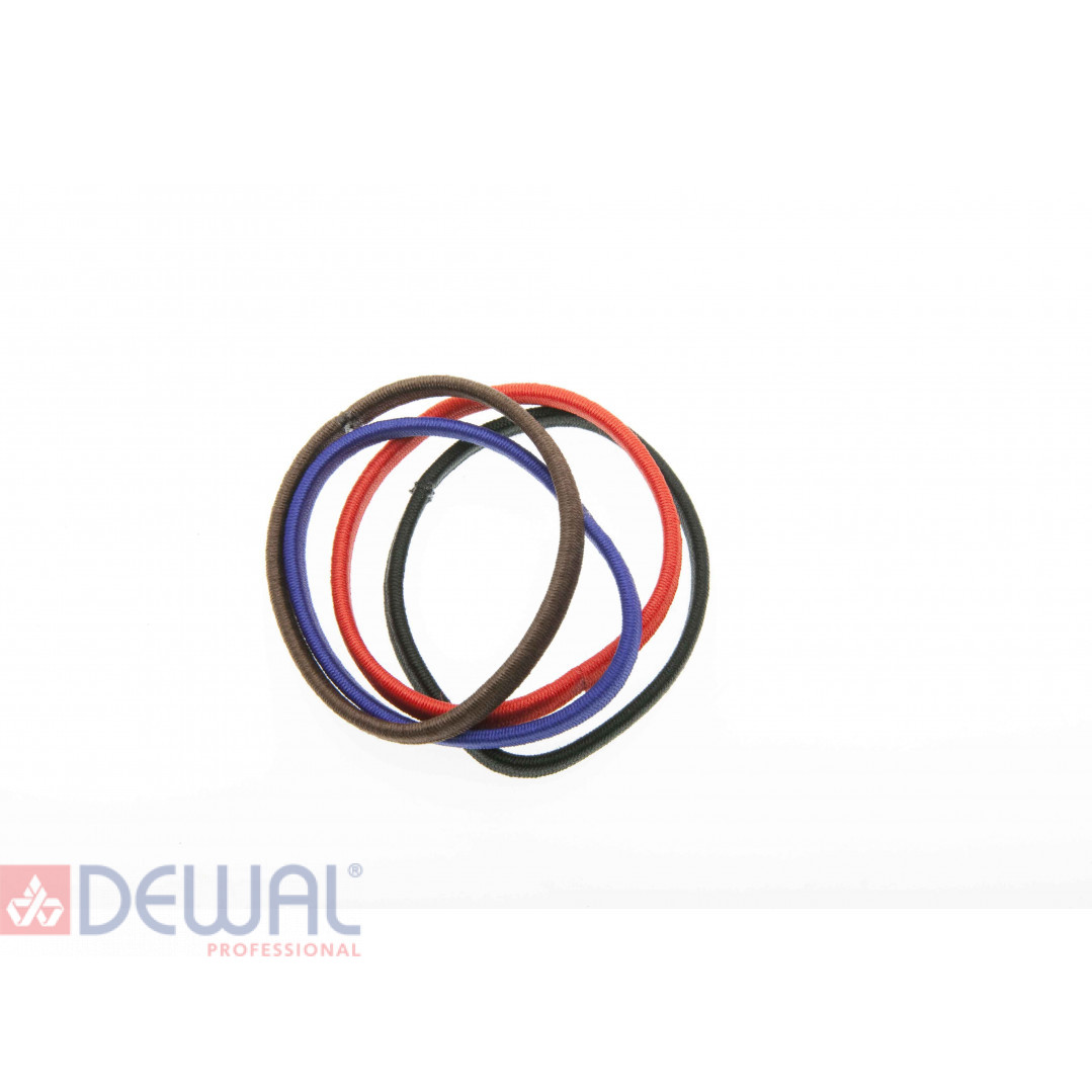 Резинки для волос цветные плоские, midi (8 шт) DEWAL BEAUTY DBR8