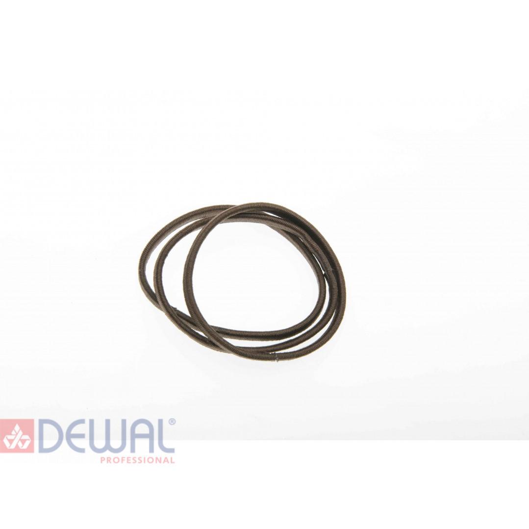 Резинки для волос коричневые плоские, midi (8 шт) DEWAL BEAUTY DBR9