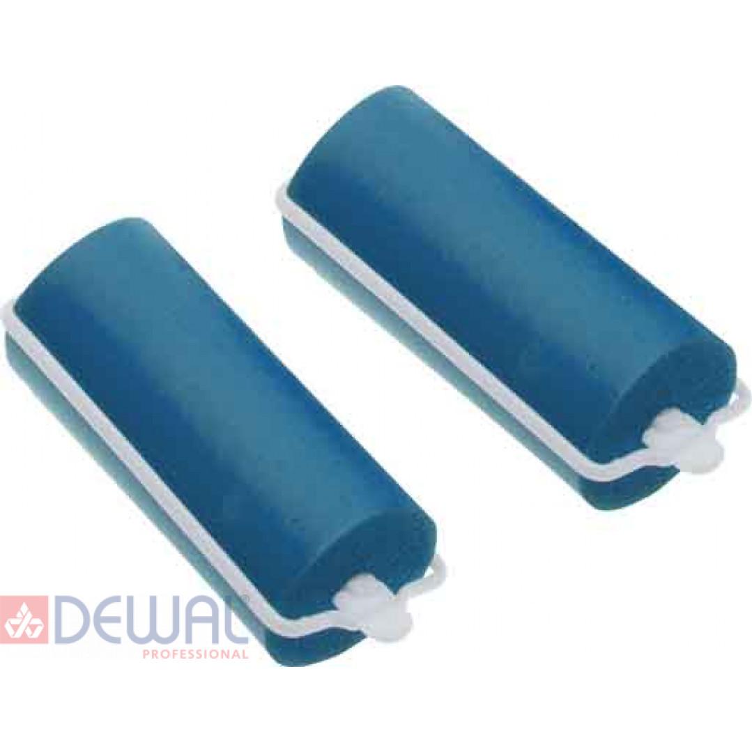 Бигуди резиновые синие d 16 мм x 70 мм (10 шт) DEWAL BEAUTY DBRZ16