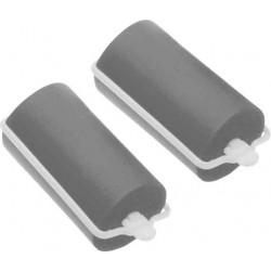 Бигуди резиновые серые d 28 мм x 70 мм (10 шт) DEWAL BEAUTY DBRZ28