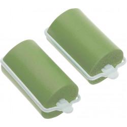 Бигуди резиновые зеленые d 38 мм x 70 мм (10 шт) DEWAL BEAUTY DBRZ38