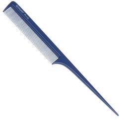 Расческа рабочая с пластиковым хвостиком синяя DEWAL BEAUTY DBS6104